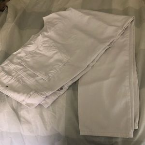 Plus size white stretchy pants. Size 16